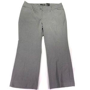 Lane Bryant Classic Trouser Size 18P Grey NWT